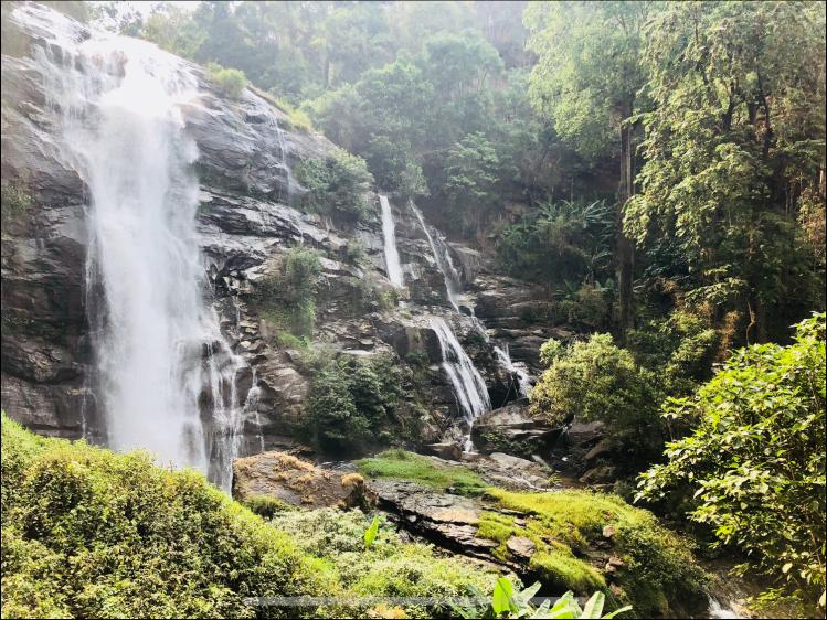 watchirathan doi inthanon waterfall motorbike
